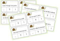 JEUX AUTOCORRECTIFS de grammaire CE1 - Caracolus Cycle 3, Language Activities, French Language, Preschool, Teaching, Education, Math, Bullet Journal, Voici