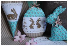 sweet bunny cross stitch for Easter