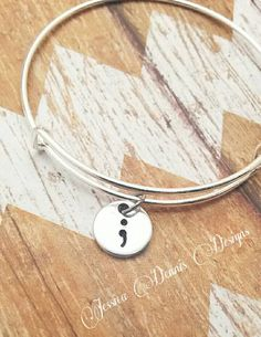 Hey, I found this really awesome Etsy listing at https://www.etsy.com/listing/242791041/semicolon-suicide-awareness-bracelet