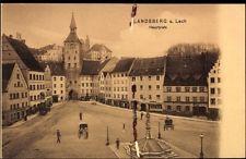 Ak Landsberg am Lech Oberbayern, Blick auf den Hauptplatz