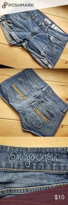 Indigo Rein shorts Distressed jean shorts. Good condition. Indigo Rein Shorts Jean Shorts