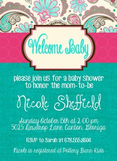Cute As A Button Baby Shower Invitation Shabby Chic Girl S