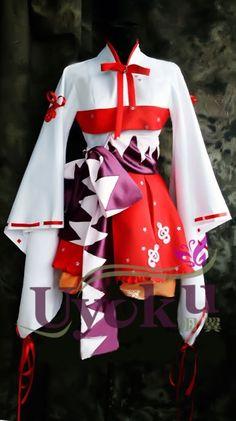 Japanese Cosplay Costume Hatsune Miku Project Diva Customized Party Kimono New