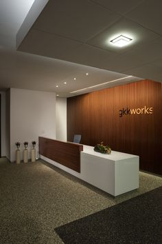 Reception desk #corporate #design #interiors