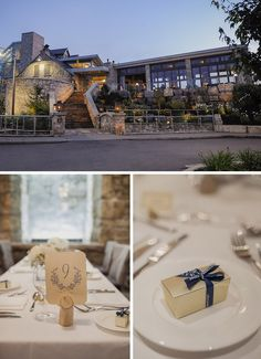 Today's wedding has all the makings for a perfectly elegant rustic wedding... A lovely lace wedding dress, a charming mill, and classic, romantic colors.
