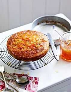 Sticky marmalade drizzle cake