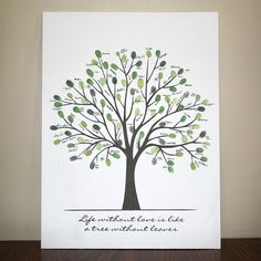 Fingerprint tree - you can print out the template and add your own fingerprints. Make one at your next family reunion. Or have your wedding guests contribute their prints. <3