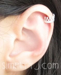 Jewelry  Earrings  Ear Cuff  sterling silver  band  helix  rim  cartilage  earcuff  cuff  no piercing