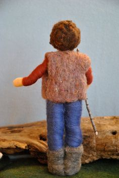 Needle Felted Waldorf inspired Standing Doll : The door MagicWool Felt Dolls, Needle Felting, Puppets, Wool Felt, Sheep, Diy And Crafts, Winter Hats, Etsy, Pixies