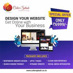 Online Marketing, Digital Marketing, Ui Design Inspiration, Catalog Design, Brochure Design, User Interface, Color Splash, Social Media, Graphic Design