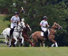Prince Harry and Prince William Photos - Audi Polo at Coworth Park Ascot Berkshire - Zimbio