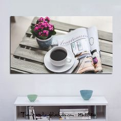 Tranh in vải canvas treo quán cafe rất đẹp và hiện đại