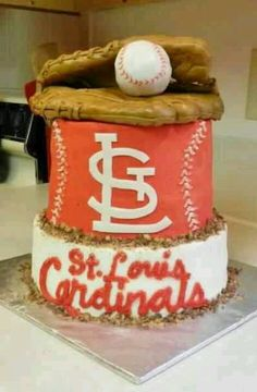 St. Louis Cardinals Grooms Cake...gonna make it a birthday cake...