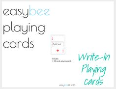 JFF Printable Mini Playing Cards- write in Learning Tools, Learning Games, Deck Of Cards, Just For Fun, Card Games, Playing Cards, Printables, Writing, Mini