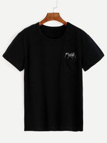 Black Pinky Swear Gesture Print T-Shirt