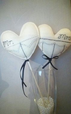 """SOLD"" My felt wedding toppers/ favours-Diamond Lil by Natalie Di Vito on facebook xx"