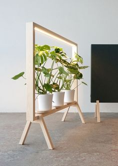 johan kauppi brings an illuminated frame for potted plants to the stockholm furniture . - johan kauppi launches an illuminated frame for potted plants at stockholm furniture … - Wood Furniture, Furniture Design, Laminate Furniture, Green Furniture, Furniture Cleaning, Furniture Removal, Furniture Storage, Furniture Outlet, Furniture Companies