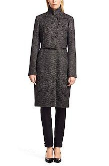 Hugo Boss Wool coat 'Clena1' in new wool blend, Patterned