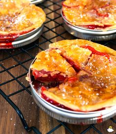 mason jar lid cherry pie