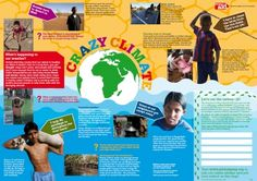 CHRISTIAN AID Crazy Climate assembly  7-11 years - Citizenship, geography, PSHE, RE, assemblies, the environment. Crazy Climate explores the issues of climate change and poverty in a lively and exciting poster.