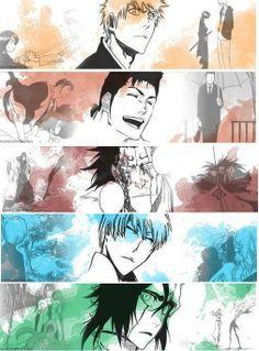 Anime/manga: Bleach Characters: Ichigo, Isshin, Kenny, Gin, and Ulquiorra