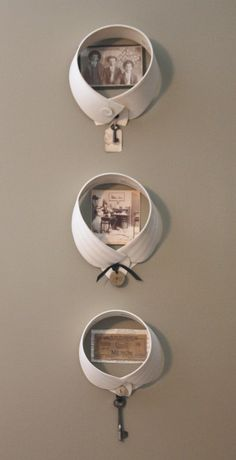 VINTAGE MEN'S COLLARS  Vintage Collar Frames  by vintagenonsense, $24.00