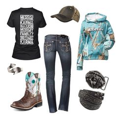 Country girl clothes i want that blue hoodie :( Country Girl Outfits, Country Wear, Country Girl Style, Country Fashion, Country Shirts, My Style, Country Life, Country Apparel, Country Dresses