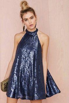Vestido de lentejuelas azul