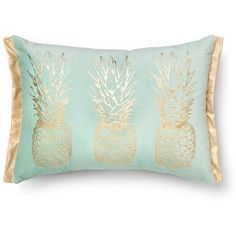 Pineapple Lumbar Throw Pillow Gold/Blue Threshold (67 BRL) ❤ liked on Polyvore featuring home, home decor, throw pillows, pillows, lumbar throw pillow, blue home accessories, gold accent pillows, gold home decor and gold home accessories