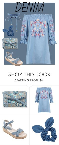 """""""Denim"""" by ununiformedstyles ❤ liked on Polyvore featuring Mantaray, Dorothy Perkins and Charlotte Russe"""