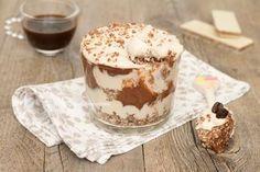 Coppa mascarpone e caffè con Nutella e wafer