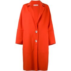 Marni Classic Coat (76.460 RUB) ❤ liked on Polyvore featuring outerwear, coats, marni coat, lapel coat, print coat, pattern coat and red coat