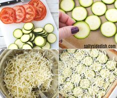 Zucchini Tomato Casserole with Bread Crumb Topping - exciting gourmet side dish recipe Zucchini Side Dishes, Veg Dishes, Vegetable Dishes, Food Dishes, Main Dishes, Zucchini Tomato Casserole, Vegetable Casserole, Veggie Bake, Zoodle Recipes