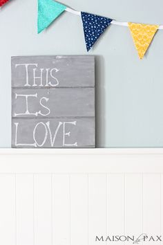 This adorable DIY chalkboard is perfect for encouraging messages to your loved ones or to yourself. It would also be perfect for organization, like menu planning.
