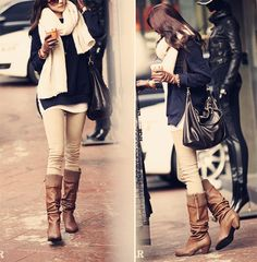 i now realize my desperate need for beige skinny pants. Pretty Outfits, Chic Outfits, Winter Outfits, Fashion Outfits, Womens Fashion, Beige Pants Outfit, Khaki Skinnies, Khaki Jeans, Style