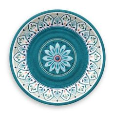 Crafted of worry-free melamine, this Moroccan medallion dinner plate set lets you be effortlessly elegant. Shatterproof, dishwasher safe and BPA free, its melamine construction simply makes sense, whether you love to entertain inside or out. Dinner Plate Sets, Dinner Plates, Melamine Dinnerware Sets, Tableware, Teal Dinnerware, Kitchenware, Ceramic Plates, Decorative Plates, Teller Set