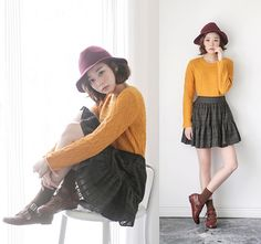 Get this look: http://lb.nu/look/6651524  More looks by SaeA Eom: http://lb.nu/saea  Items in this look:  Mustard Color Sweater, Chiffon Cancan Skirt   #casual #girlish #vintage
