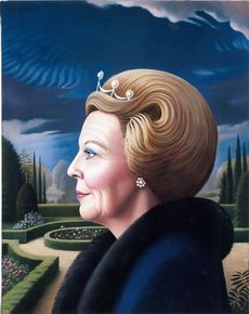 Konigin Beatrix I der Nederlanden / Carel Willink. Contemporary Artists, Modern Art, George Tooker, Awsome Pictures, Magic Realism, Painter Artist, Z Arts, Dutch Painters, Dutch Artists