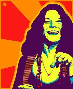 Janis Joplin by *monsteroftheid on deviantART  por que ¡oh bebe! te voy a mostrar que una mujer también es fuerte y puede pensar