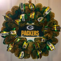 Greenbay Packers Wreath by MissChristinasCrafts on Etsy