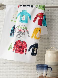 Christmas sweater tea towel | Simons Maison | Accessories for Holidays and Celebrations Online | Simons