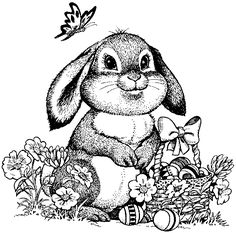 some cute easter coloring pages here.