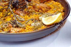 Preparar paella valenciana
