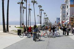 Cycling on Venice Beach.