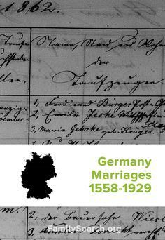Germany Marriages, 1558-1929 | Have German ancestors that were married between 1558-1929? These records can help you start finding them.