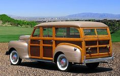 Wood Covered 1941 Plymouth Special Deluxe Wagon
