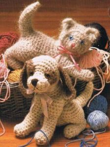 Free Pattern Crochet Stuffed Animals   CROCHET-PATTERN-BOOK-STUFFED-ANIMALS-CAT-DOG-MONKEY-BABY-DRESSES ...