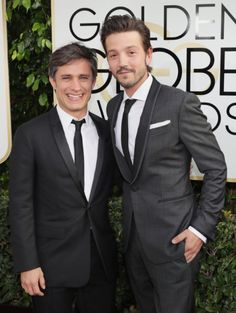 Gael García Bernal and Diego Luna at an event for The 74th Golden Globe Awards (2017)