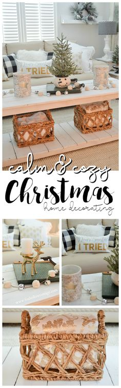 Cottage Holiday Home with Better Homes & Gardens. Calm & Cozy Christmas Living Room. Simple, Stress-Free Decorating Ideas at Fox Hollow Cottage. Find festive throws, birch hurricane candle holders, glam metallic accents and more - for a beautiful, affordable holiday home with Better Homes & Gardens. #bhgcelebrate #sponsored