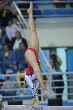 catalina ponor - gymnastics Olympics gymnast balance beam  #KyFun moved from Kythoni's Gymnast: Romania: Sandra Izbasa | Catalina Ponor | Andrea Raducan | Ana Porgras board http://www.pinterest.com/kythoni/gymnast-romania-sandra-izbasa-catalina-ponor-andre/ m.38.2